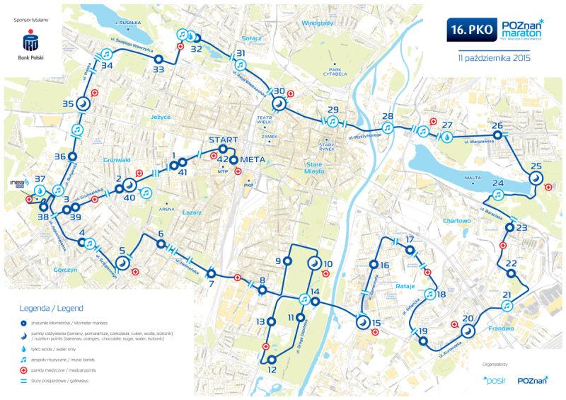 Mapa trasy PKO Poznań Maraton