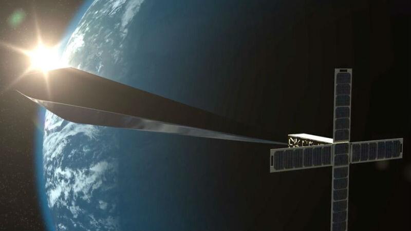 """""""Orbital Reflector"""" ma się rozwinąć w kosmosie do rozmiaru dwóch autobusów (fot. Nevada Museum of Art)"""