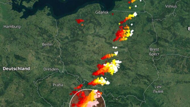 Gdzie jest burza. Sprawdź, by zachować bezpieczeństwo