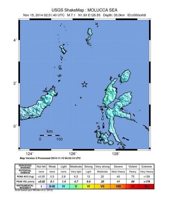 Trzęsienie miało siłę 7,3 w skali Richtera