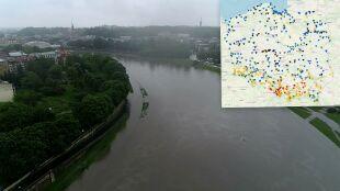 Rośnie poziom wody w rzekach. Pogotowie przeciwpowodziowe w Krakowie