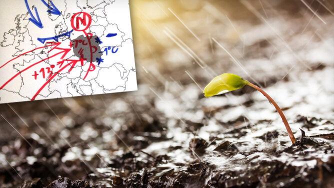"""Deszczowy front nad Polską. <br />""""Otwiera bramę ciepłemu powietrzu"""""""