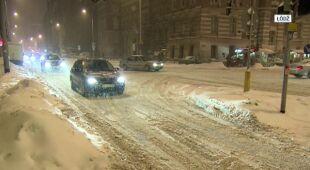 Łódź pod śniegiem (TVN24)