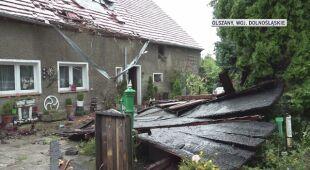 Wiatr zrywał dachy z budynków